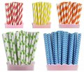 250pcs CARNIVAl Colorful Paper Straws Mixed