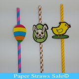 Easter Paper Straws 600pcs Mixed 3 Colors
