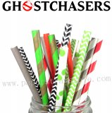 200pcs Ghost Chasers Halloween Paper Straws Mixed