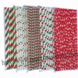 New Christmas Paper Straws 1500pcs Mixed 5 Design