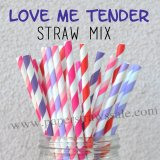 250pcs Love We Tender Theme Paper Straws Mixed