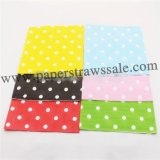 2400pcs Mixed 6 Colors Polka Dot Paper Napkins