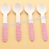 Red Chevron Print Wooden Spoons 100pcs