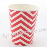 90Z Red Chevron Paper Drinking Cups 120pcs