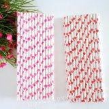 Paper Drinking Straws 600pcs Mixed 2 Colors