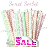 250pcs Easter SWEET SORBET Paper Straws Mixed