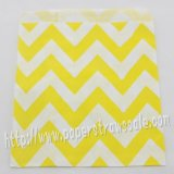 Yellow Wide Chevron Paper Favor Bags 400pcs