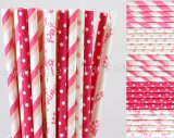 250pcs Pink Princess Party Paper Straws Mixed