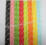 White Star Colored Paper Straws 2400pcs Mixed 8 Colors