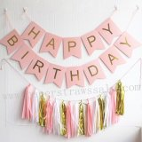 Happy Birthday Light Pink Party Decoration Set