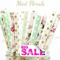 200pcs SUMMER SOIREES Themed Paper Straws Mixed