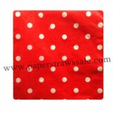 Red Polka Dot Paper Napkins 300pcs