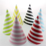 72pcs Mixed 6 Colors Striped Paper Party Hats