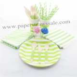 193 pieces/lot Party Dinnerware Set Green Stripe