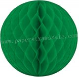 Green Tissue Paper Honeycomb Balls 20pcs