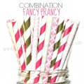 200pcs FANCY PRANCY Themed Paper Straws Mixed