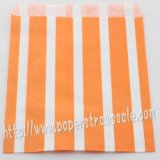Orange Vertical Striped Paper Favor Bags 400pcs