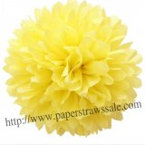 "8"" and 14"" Yellow Paper Pom Pom Tissue 20pcs"