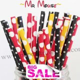 300pcs MR MOUSE Themed Paper Straws Mixed