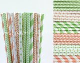 300pcs Pink and Mint Party Paper Straws Mixed