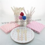 193 pieces/lot Party Dinnerware Set Pink Polka Dot