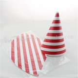 48pcs Red Striped Paper Party Hats