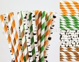200pcs Woodland Themed Party Paper Straws Mixed
