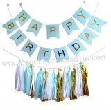 Happy Birthday Light Blue Party Decoration Set