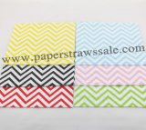 2400pcs Mixed 6 Colors Chevron Paper Napkins
