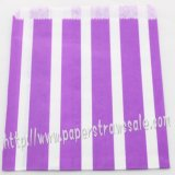 Purple Vertical Striped Paper Favor Bags 400pcs