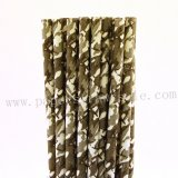 Camouflage Grey Party Paper Straws 500pcs