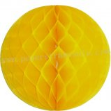 Yellow Tissue Paper Honeycomb Balls 20pcs