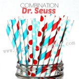 250pcs DR. SEUSS Paper Straws Mixed