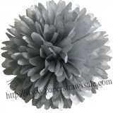 "8"" and 14"" Paper Pom Pom Tissue Silver 20pcs"