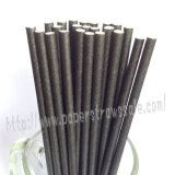Plain All Black Paper Drinking Straws 500pcs