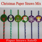 Christmas Paper Straws 1800pcs Mixed 6 Colors