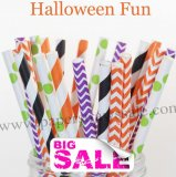 250pcs HALLOWEEN FUN Theme Paper Straws Mixed
