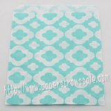 Light Blue Mod Print Paper Favor Bags 400pcs
