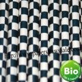 Navy Blue Checkered Paper Straws 500pcs