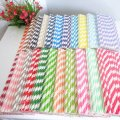 Striped Paper Drinking Straws 2200pcs Mixed 22 Colors