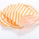 Orange Diagonal Stripe Paper Favor Bags 400pcs