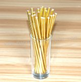 Gold Foil Plain Paper Straws 500pcs