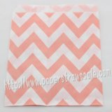 Pink Wide Chevron Paper Favor Bags 400pcs