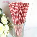 Paper Drinking Straws Red Chevron Printed 500pcs