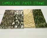Camouflage Paper Straws 2000pcs Mixed 4 Colors