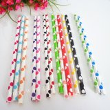 Big Polka Dot Paper Straws 2800pcs Mixed 14 Colors