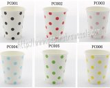 360pcs 90Z Polka Dot Paper Drinking Cups Mixed 6 Colors