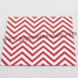 Red Chevron Print Paper Napkins 300pcs