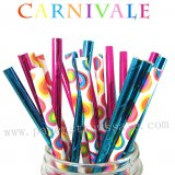 300pcs Carnival Carnivale Party Paper Straws Mixed
