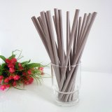 Solid Color Gray Paper Drinking Straws 500pcs